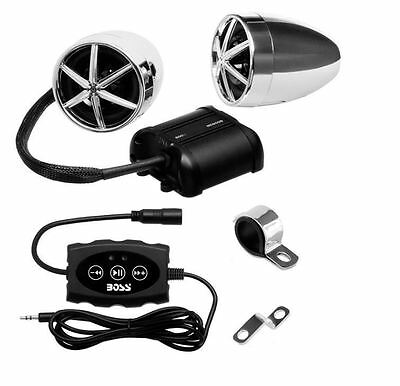 BOSS AUDIO MC600B  Motorcycle ATV Sound System 3 Inch Weather Proof Speakers