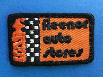 Vintage 1980's Fleenor Auto Stores Car Parts FAS Hat Jacket Uniform Patch Crest