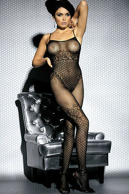 Black Floral Mesh Obsessive Bodystocking