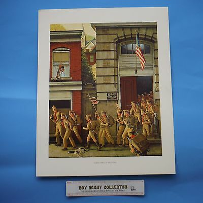 """Boy Scout Norman Rockwell Print Scouting Is Outing 11""""x14"""""""