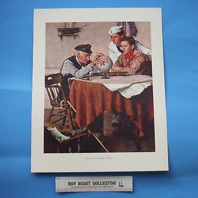 """Boy Scout Norman Rockwell Print Scouts Of Many Trails 11""""x14"""""""