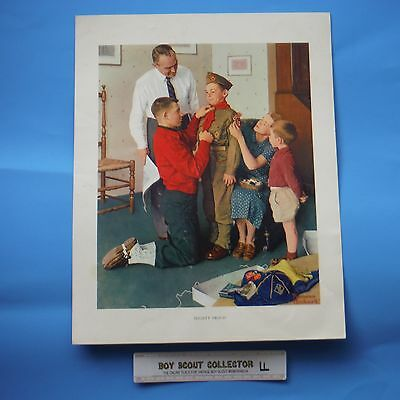 """Boy Scout Norman Rockwell Print Mighty Proud 11""""x14"""""""