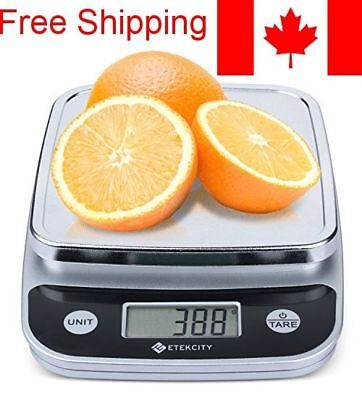 Digital Kitchen Food Scale (Silver, Electroplating, Batteries Included)