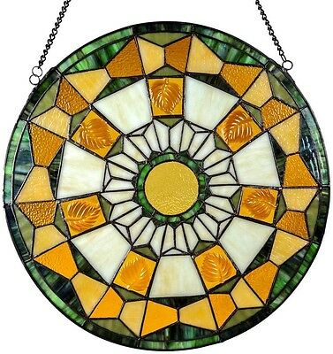 Stained Glass Window Suncatcher Panel Hanger Tiffany Style Mission Victorian