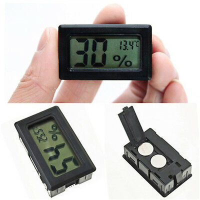 Digital Meter LCD Temperature Humidity Thermometer Hygrometer Vivarium Reptile