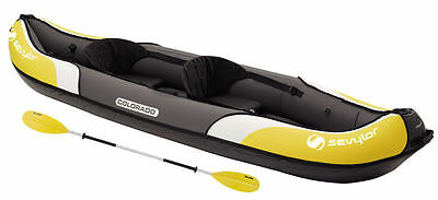 Sevylor Colorado 2 Person Inflatable Blow up Kayak Boat - Kit with Oars & Pump!
