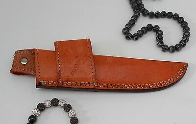 Handmade double loop real leather sheath cover pouch for all knives