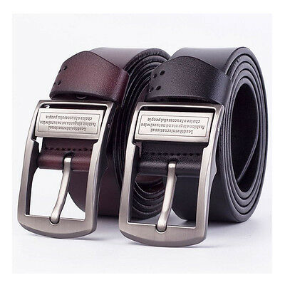 Jeans Men's Belts Waistband Genuine Leather Wide Pin Buckle Casual Style Hot