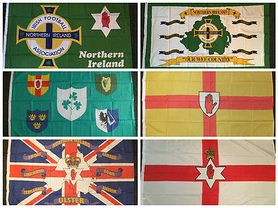 Northern Ireland Football Red Hand Flag Ulster Loyalist Soccer Sports Rugby 5x3