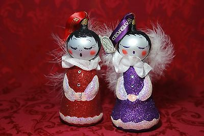 Waterford Holiday Heirlooms SUGAR PLUMS SNOW ANGELS Christmas Tree Ornaments