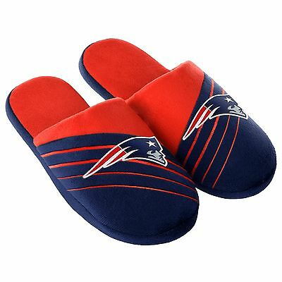 Pair New England Patriots Big Logo Slide Slippers Team Color House shoes BLG16