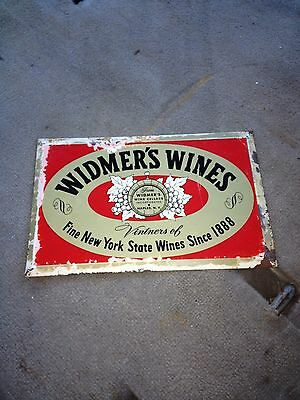 "1970's 11 3/8"" Widmere Wines Sign Naples Ny"