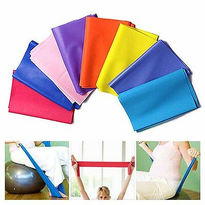 1.5m Rubber Stretch Yoga Elastic Pilates Bands Fitness Exercise Workout Training