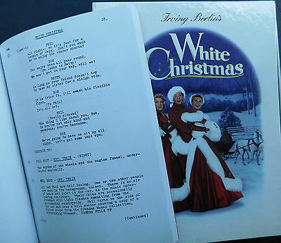 CLOONEY 89 page movie script for White Christmas + video gift box, photo 1954