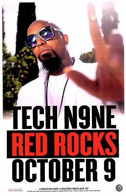 TECH N9NE The Calm Before The Storm Tour 2016 Red Rocks (2) Concert /Gig Posters