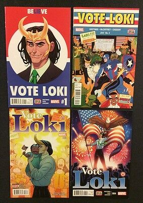 VOTE LOKI #1 - 4 Comic Books Presidential Election Believe Lies 2016 Avengers