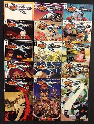 STREET FIGHTER X GI JOE #1 - 6 Comic Books VARIANTS Exclusives IDW 2016 NM