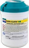 Sani-cloth Hb Germicidal Wipes Alcohol Free LARGE 160/tub. *BRAND NEW!*