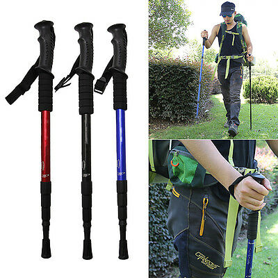 Ultralight Hiking Walking Stick Climbing Pole T Handle Outdoor Sports Camping