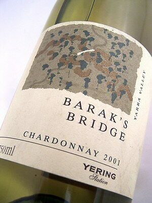2001 YERING STATION Baraks Bridge Chardonnay Isle of Wine