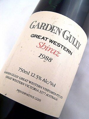 1988 GARDEN GULLY Great Western Shiraz Isle of Wine