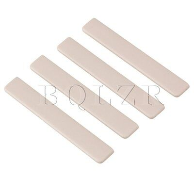 Ukulele Guitar 5.3x0.3x0.8cm Beige Plastic Saddles Replacement Pack of 4