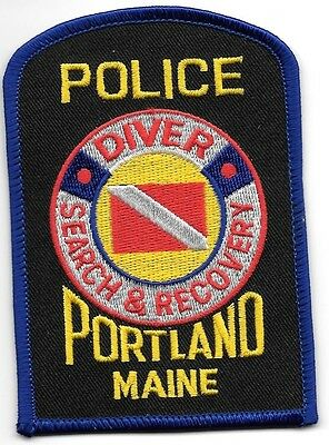 "*NEW*  Portland - Dive Team, ME (3"" x 4.25"") shoulder police patch (fire)"