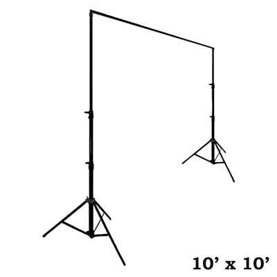 BLACK 10 10 ft Photo Backdrop Stand Kit Studio Stage Background Party Wedding