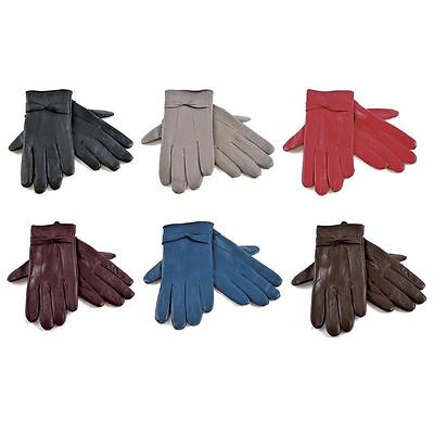 Ladies Women Soft Sheepskin Real Leather Gloves with lining Driving Winter Glove