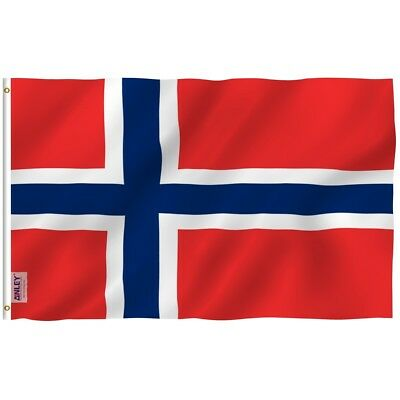 ANLEY Norwegian Flag Norway Banner Polyester 3x5 Ft Country Flag Double Stitched