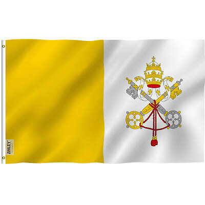 Anley Fly Breeze 3x5 Foot Vatican Flag State of Vatican City Flags Polyester