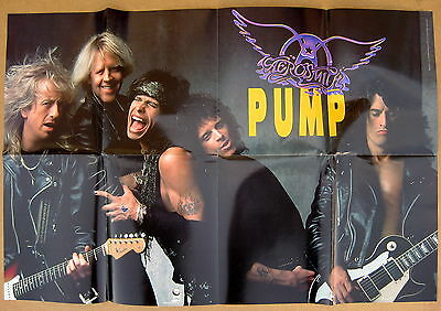 AEROSMITH Pump 1989 US Promo POSTER Steven TYLER Joe PERRY Minty!