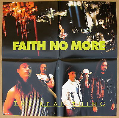 FAITH NO MORE The Real Thing 1990 US Promo POSTER Minty! EPIC Mike Patton MINTY!
