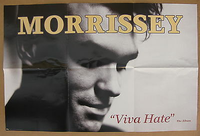 MORRISSEY Viva Hate 1988 US ORG Promo POSTER Suedehead THE SMITHS