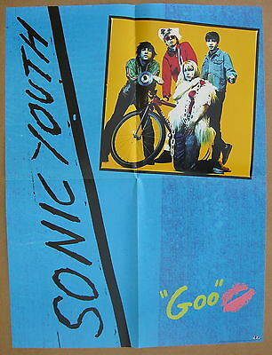 SONIC YOUTH Goo / Kool Thing 1986 US Promo POSTER Minty! CHUCK D