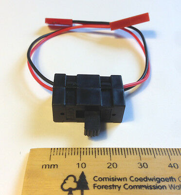 On off battery box switch for RC car/buggy/drone - JST male to Futaba female HSP