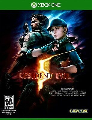 Resident Evil 5 remastered - Xbox One Game - Physical Disc - BRAND NEW SEALED