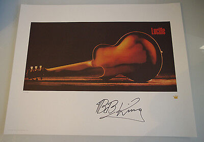 BB King Lucille Signed Autographed Lithograph Poster AP Artist Proof of 60