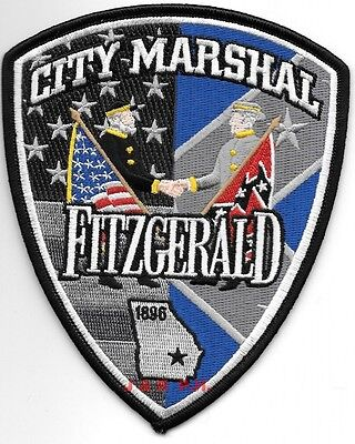 "Fitzgerald - City Marshal - 1896, GA (4.5"" x 5.5"") shoulder police patch (fire)"