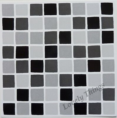 BLACK Grey Self Adhesive Mosaic Tile Stickers Transfers Bathroom Kitchen Decal