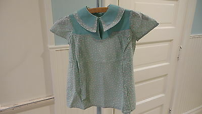 Vintage TODDLERS DRESS Pastel Floral on Green,Short Sleeve