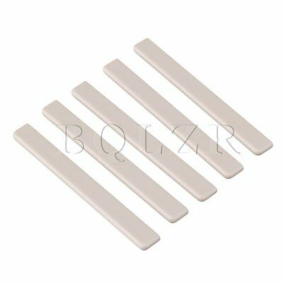 Ukulele Guitar 6.2x0.3x0.7cm Beige Plastic Saddles Replacement Pack of 5