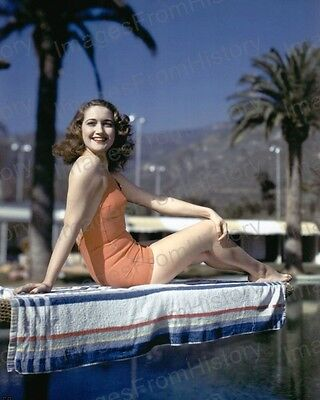 8x10 Print Dorothy Lamour Sexy Cheesecake Poolside Pose 1941 #DL01