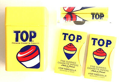 TOP Rolling Papers Combo Offer Cigarette Rollier & Case Wholesale Free USA Ship
