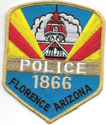 "*NEW*  Florence - 1866, Arizona (3.5"" x 4.25"") shoulder police patch (fire)"