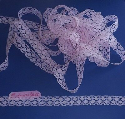 10 metres of Cotton Look Flat Lace 15mm wide (Various Colours)