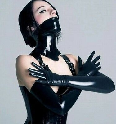 Heavy Latex Rubber Boned Corset Collar Black 1.0mm - RRP £140