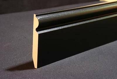 BLACK LAMINATE SKIRTING BOARDS 5 INCH HEIGHT 2.4m LENGTH PACK OF 5 = 12 metres