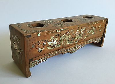 19th c. antique Chinese opium tool: Opium damper bowl stand