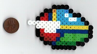 Opa-Opa Fantasy Zone Bead Sprite Perler Art Sega Spacecraft Space Wings